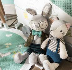 Amadeus-naissance-babies-ninos-bambini-Peluche-Doudou-Plush-lapin-conejo-coniglio-rabbit-chat-gato-gatto-cat