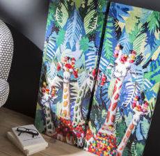 Korb-Modern-design-Tendencia-Tendenza-toile-girafe-giraffe-canvas-lienzo-girafa-tela-girafa-fun-gallery