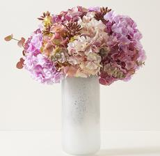 vase hortensia mauve