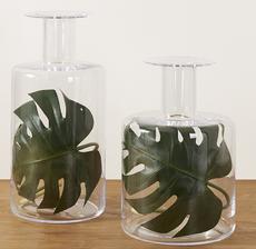 vases feuilles