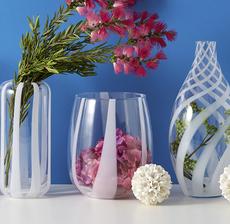 vases rayures